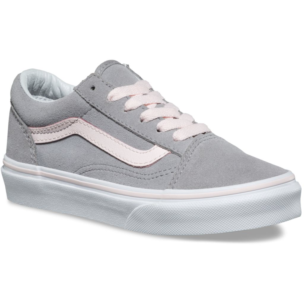 Vans Old Skool Kids - Suede Alloy / Heavenly Pink-VANS-Anchor Chief