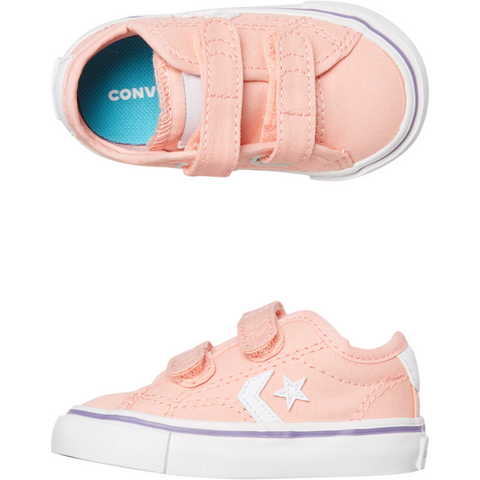 Image of Converse Star Replay 2V OX Infant - Bleached Coral/ White-CONVERSE-Anchor Chief