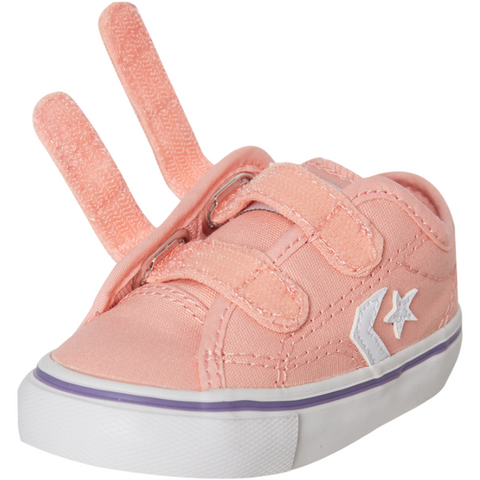 Converse Star Replay 2V OX Infant - Bleached Coral/ White-CONVERSE-Anchor Chief