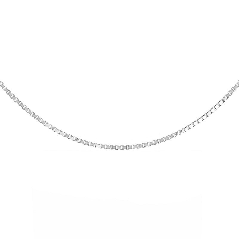 "Silver Box Chain 41cms (16"") Long - 0.65mm Thick"