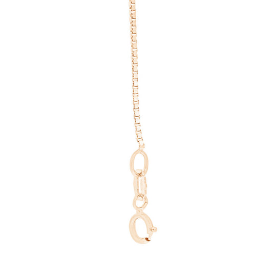 "Rose Gold Box Chain 46cms (18"") Long - 0.85mm Thick"