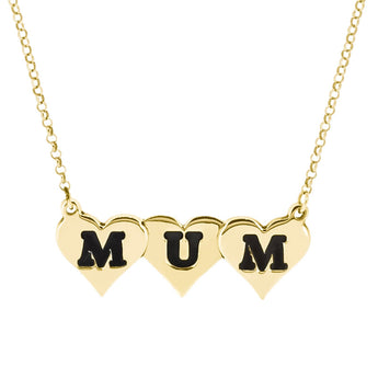 Gold Carvedorzo Mum Pendant - Ray's Jewellery