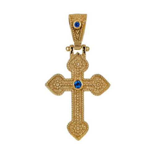 Byzantine Solitaire GoldCrucifix
