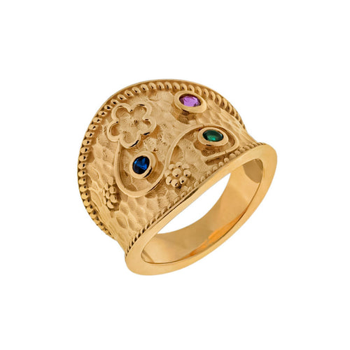 Byzantine Trilogy Gold RIng