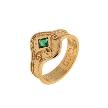 Byzantine Solitaire Gold RIng