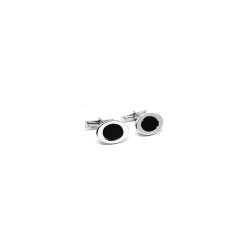 Onyx Oval Cufflinks - Ray's Jewellery