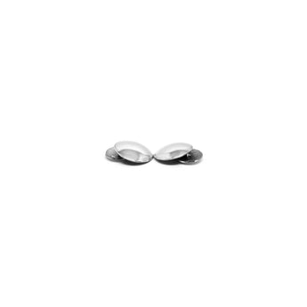 Embossed Plain Circle Cufflinks - Ray's Jewellery