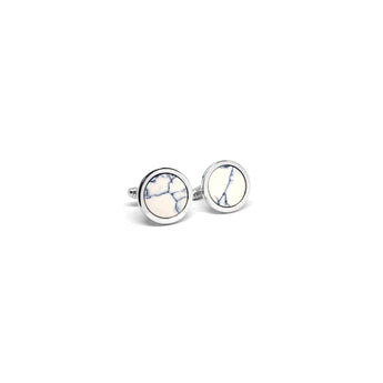 Ceramic Circle Cufflinks - Ray's Jewellery