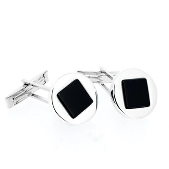 Foundry Onyx Cufflink - Ray's Jewellery