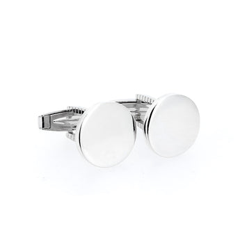 Serene Shield Cufflink - Ray's Jewellery