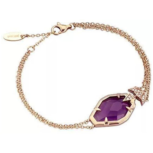 Just Cavalli Purple Snake Necklace - Ray's Jewellery