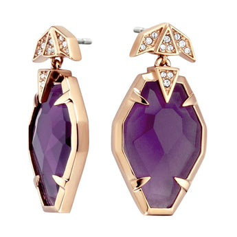Just Cavalli Purple Snake Earrings - Ray's Jewellery