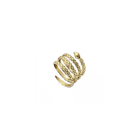 Just Cavalli Gold Snake Ring - Ray's Jewellery