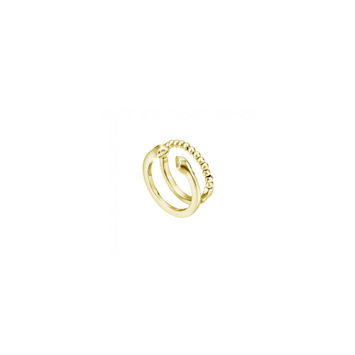 Just Cavalli Gold Snake Ball Ring - Ray's Jewellery