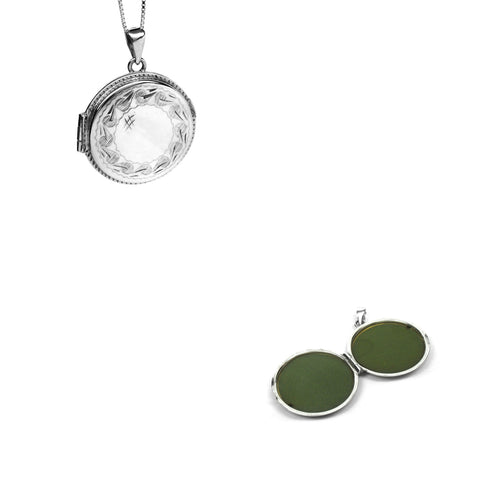 Silver Round Pendant Lockets - Ray's Jewellery