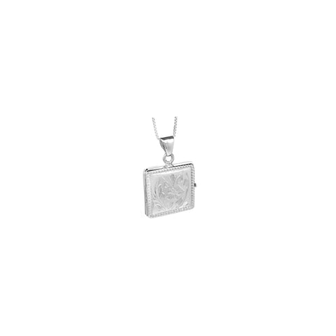 Silver Square Pendant Lockets - Ray's Jewellery