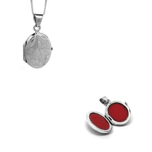 Silver Oval Pendant Lockets - Ray's Jewellery
