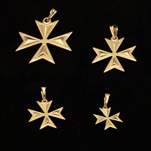 Gold Grove Maltese Cross - Ray's Jewellery
