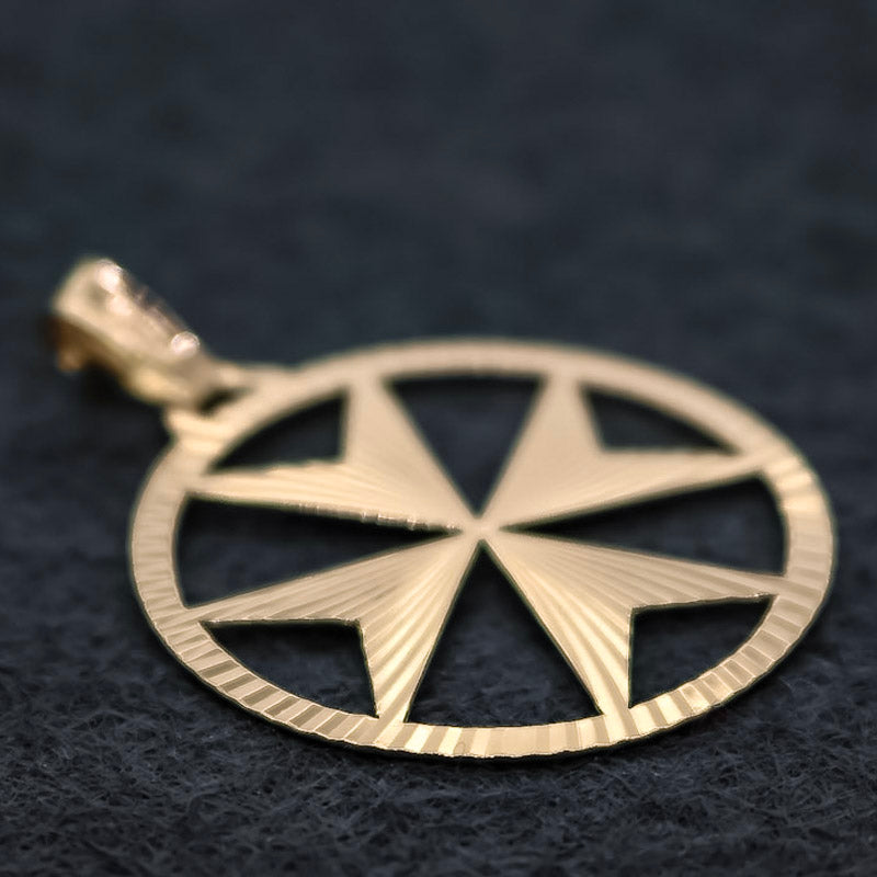 Gold Circleprism Maltese Cross - Ray's Jewellery