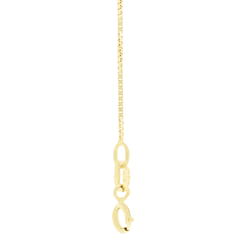 "18kt Gold Box Chain 41cms (16"") Long - 0.70mm Thick"