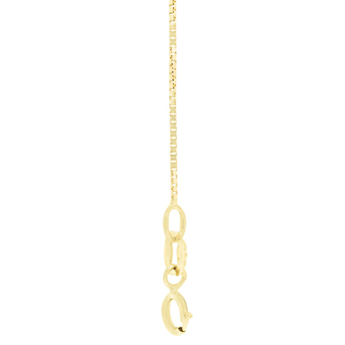"18kt Gold Box Chain 51cms (20"") Long - 0.7mm Thick"