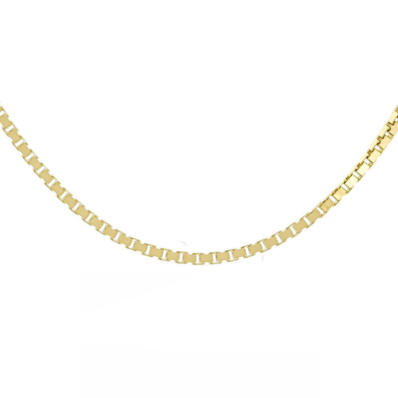 "18kt Gold Box Chain 46cms (18"") Long - 1.1mm Thick"