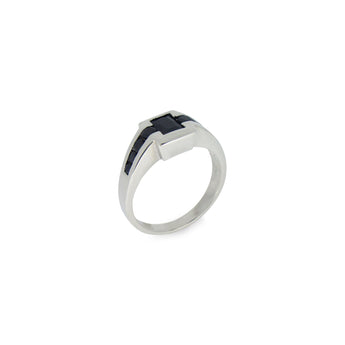 Black Signet Eternity Men's Ring - Ray's Jewellery