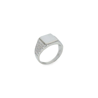 Tree Bark Signet Men's Ring - Ray's Jewellery