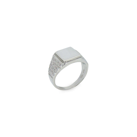 Tree Bark Signet Men's Ring