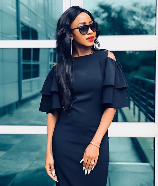 Black Corporate Chic Dress