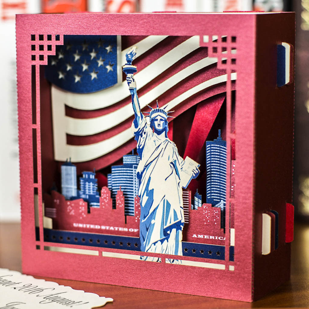 Luxury Unique Handmade Greeting Pop Up Card New York