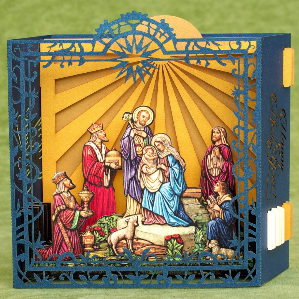Christmas Jesus Birth Images.Jesus Birth Nativity Scene Christmas Pop Up Card