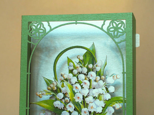The Lilies of the Valley pop-up card