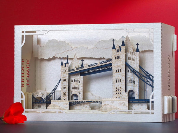 Pop-up card London Tower Bridge, Great Britain