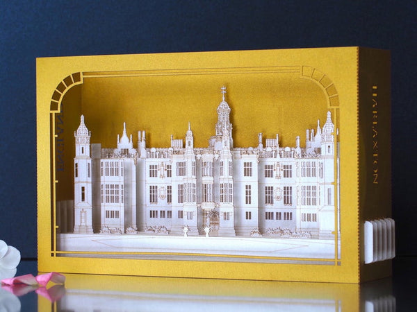 Harlaxton Manor Castle, Lincolnshire, England pop-up card