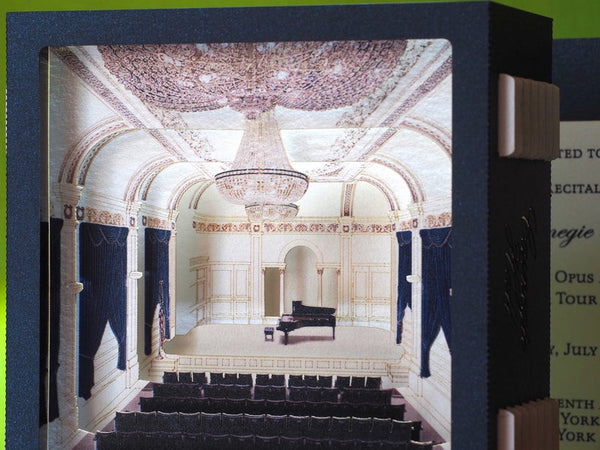 Carnegie Hall, Midtown Manhattan in New York City, United States, pop-up card