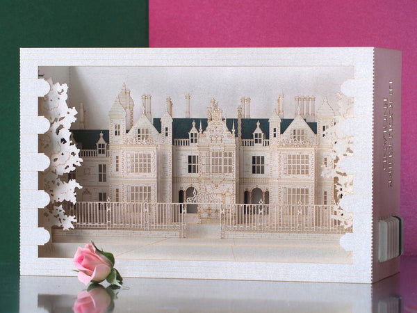 Pop-up card Stoke Rochford Hall, Lincolnshire, UK.
