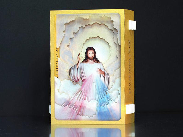 Jesus I trust in You Icon. Pop up card. Divine Mercy Prayer Cards. God. Religious cards, gifts.