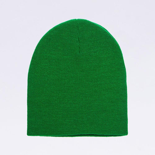 Wholesale Flexfit Beanies: Yupoong 1500KC Knit Beanie Cap Kelly Green