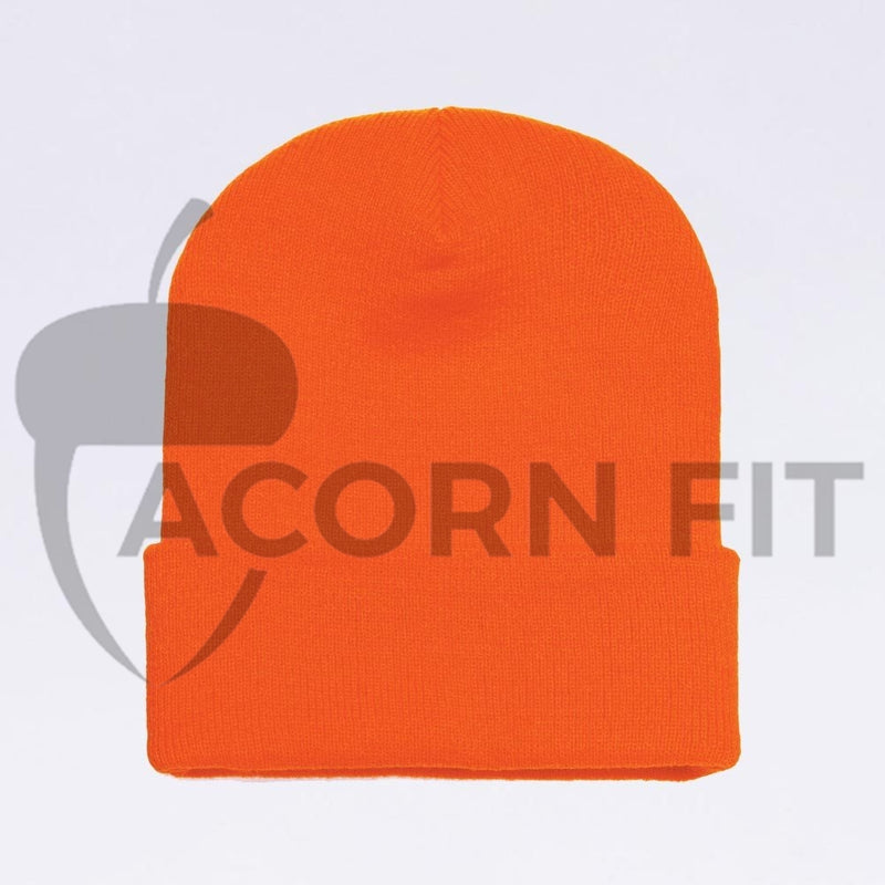 Wholesale flexfit beanies: 1501KC Neon Orange