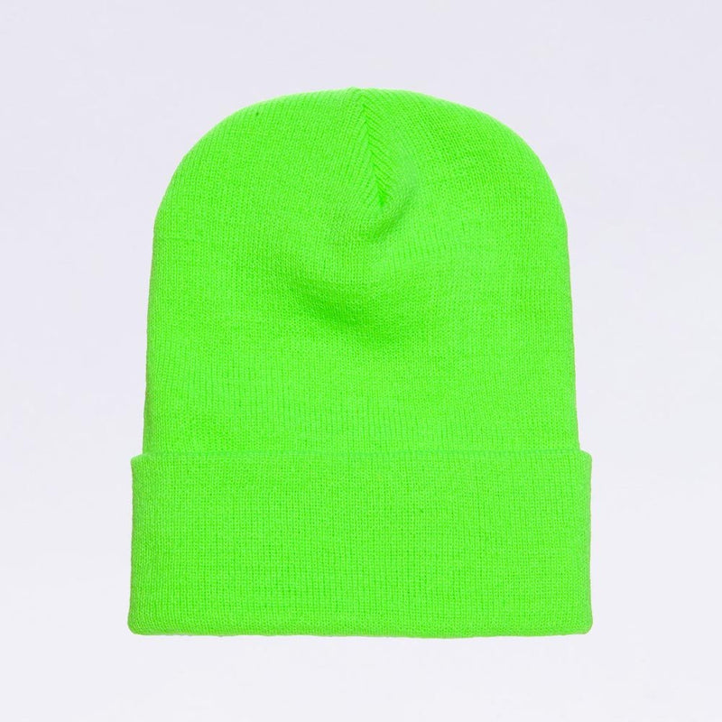Wholesale flexfit beanies: 1501KC Safety Neon Green