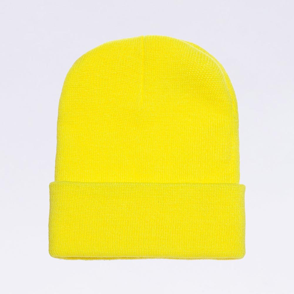 Wholesale Flexfit Beanies  1501KC Cuffed Beanie  Safety Yellow ... 01dcf8dfcb8