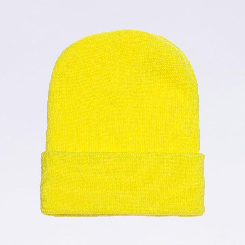Wholesale flexfit beanies: 1501KC Safety Neon Yellow