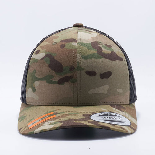 Wholesale and Custom Yupoong Classics 6606MC Multicam Retro Trucker Hats Caps - Acorn Fit