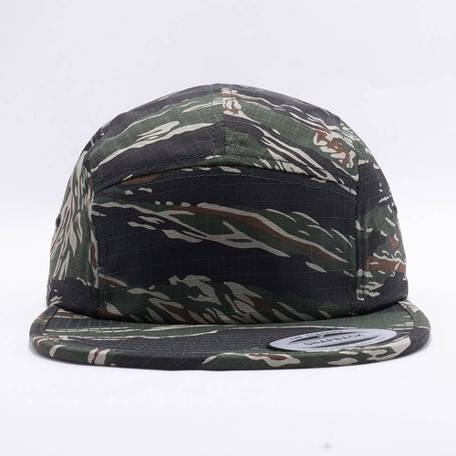 Tiger Camo Blank 5 Panel Camper Hat Cap