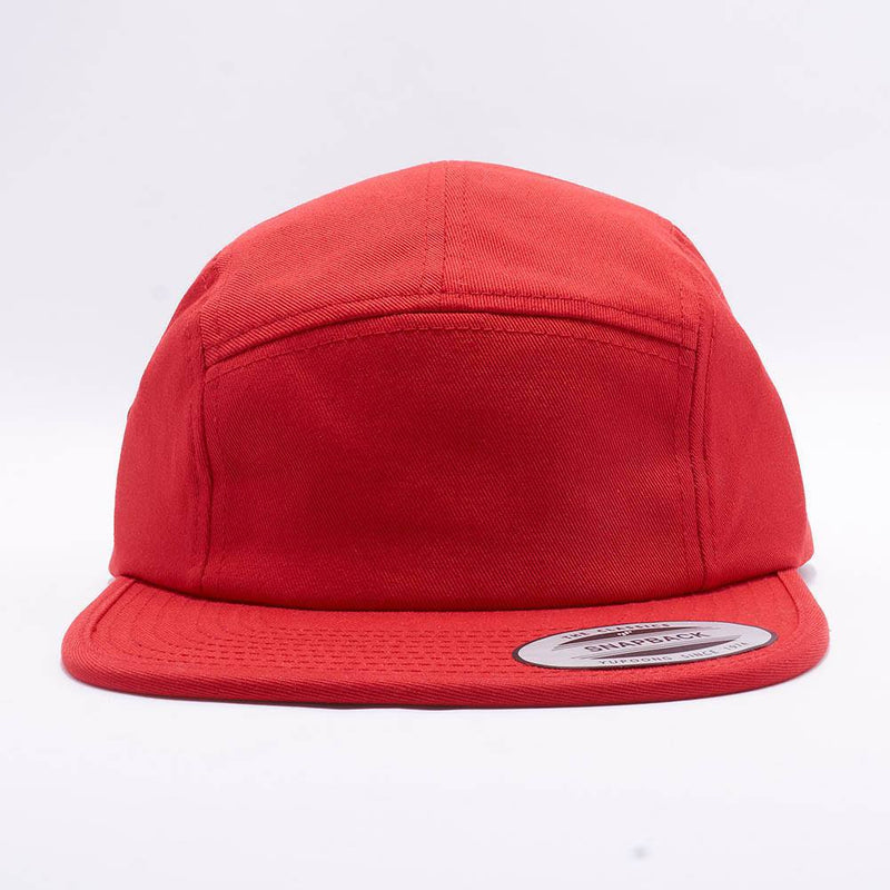 Red Blank 5 Panel Camper Hat Cap
