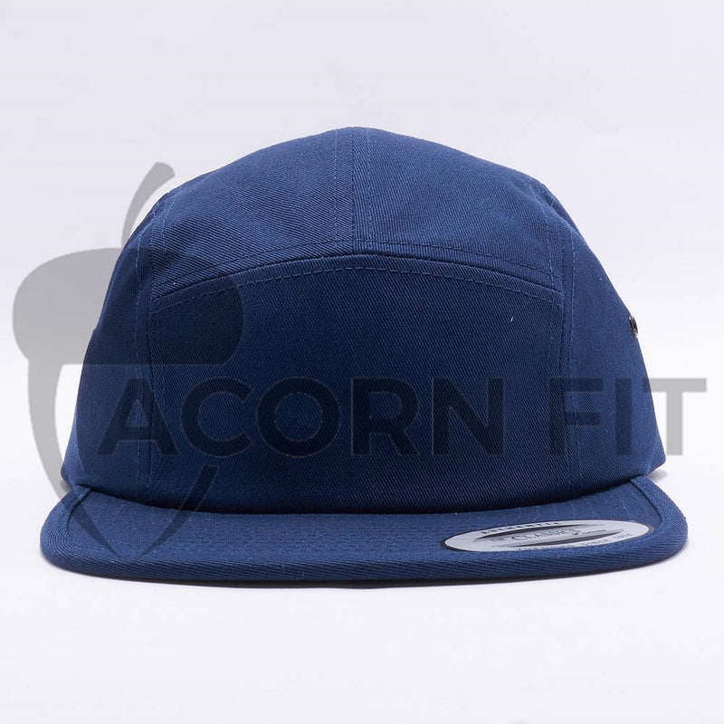 Navy Blank 5 Panel Camper Hat Cap
