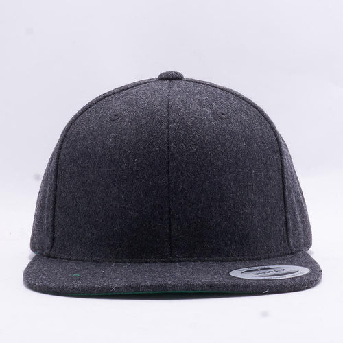 Dark Grey Melton Wool Snapback Hat