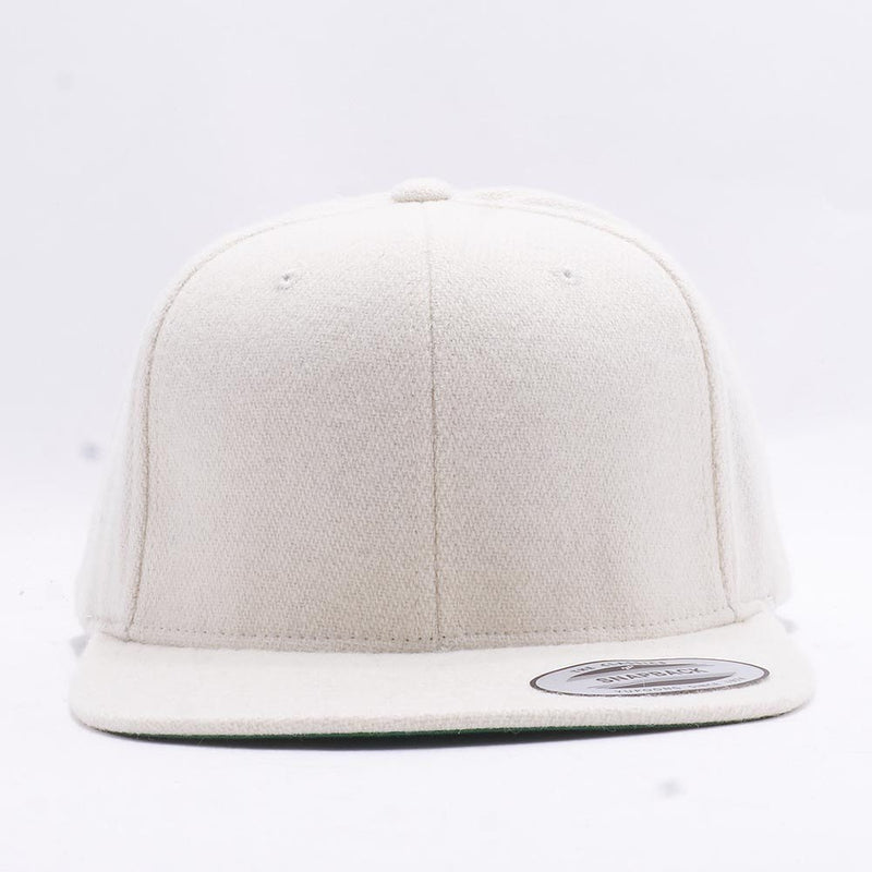 Natural Melton Wool Snapback Hat