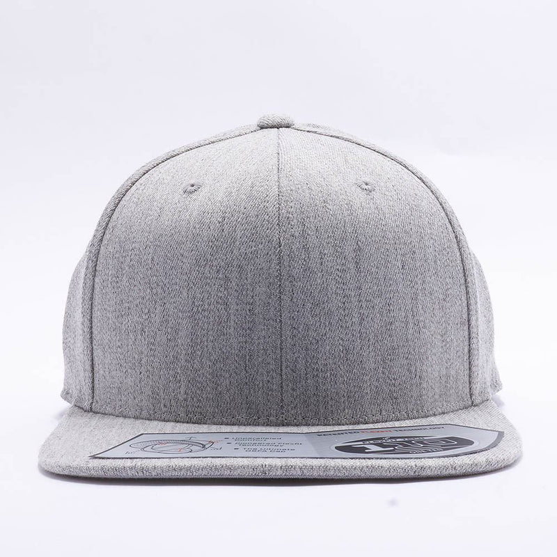 Blank Heather Grey Snapback Hats Caps